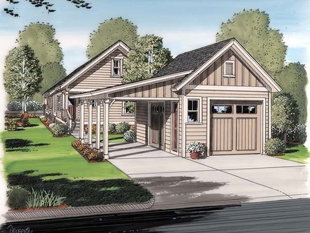 Garage Plans with Living Space Garage Plan 30505 at FamilyHomePlanscom