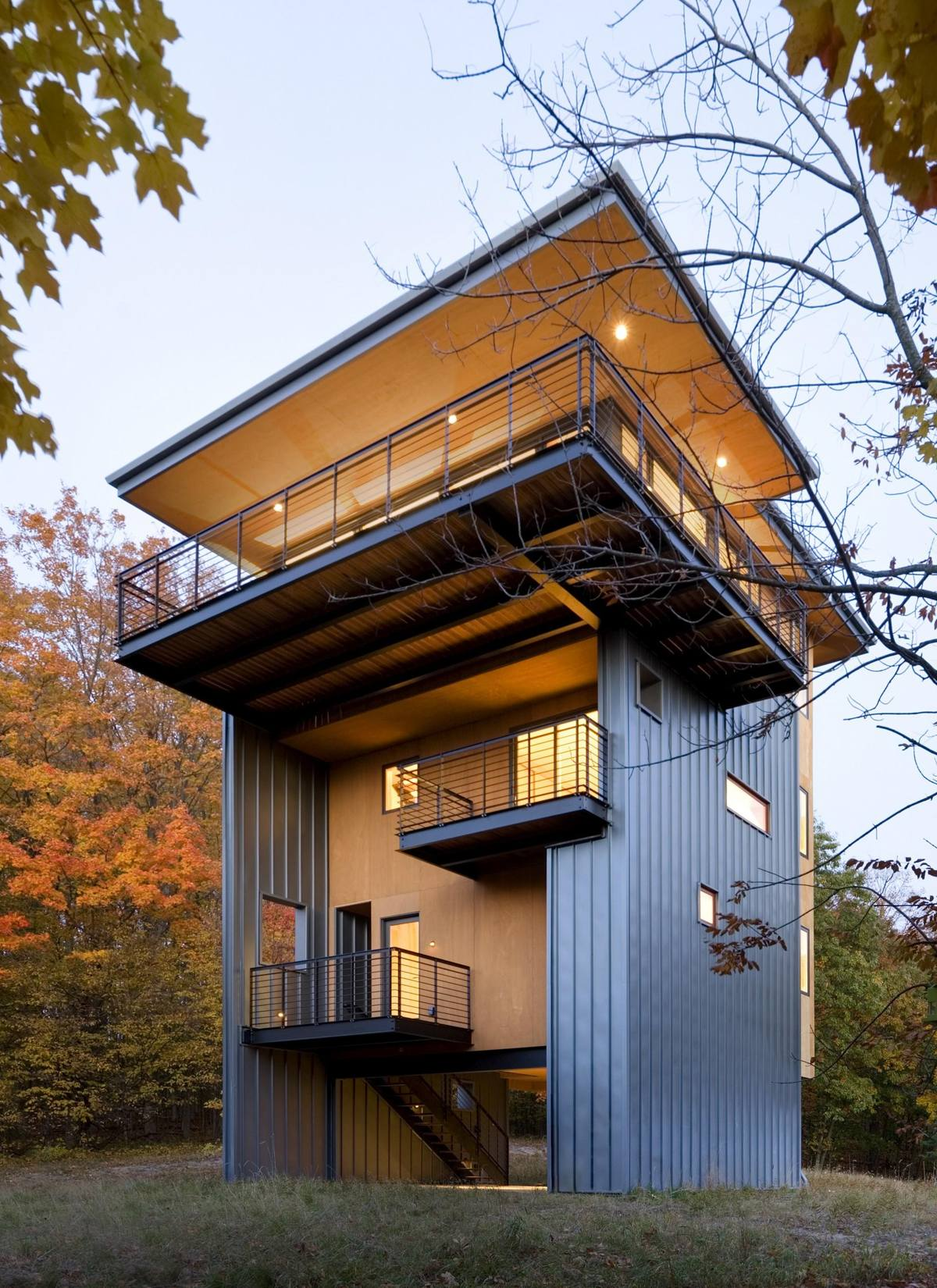 Glen Lake Tower House Modern Style House with Tower