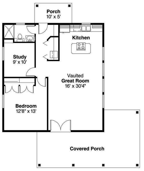Tiny Home Designs: Guest Pool House Cabana Plans Cottage Guest House Floor