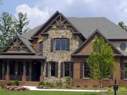 Homes with Brick and Stone Exterior Homes with Brick Accents