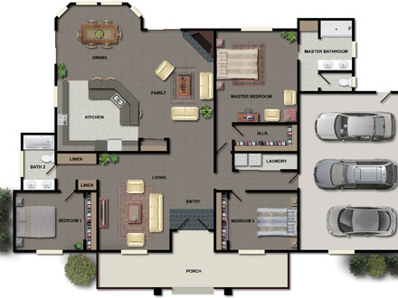 House Floor Plan Design Small House Plans with Open Floor Plan