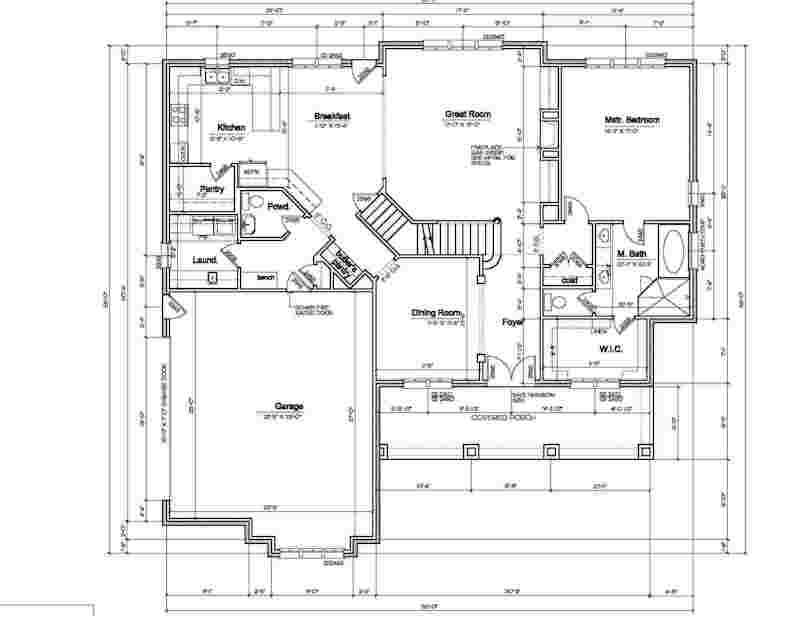 House Floor Plans with RV Garage Attached House Floor Plans with Dimensions