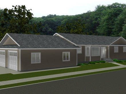 Cottage house plans with garage cottage house plans with for Home plans with attached guest house