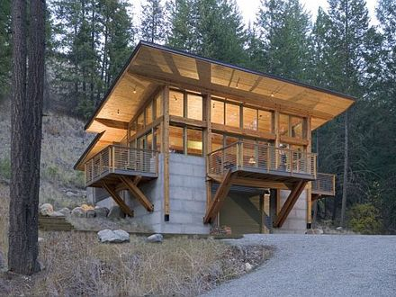 Houses Built into Hillsides Cabin Built into Hillside Plans