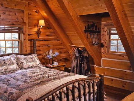 Log Cabin Fireplaces Log Cabin Bedrooms Design
