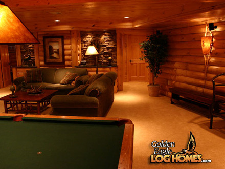 Log Cabin Homes with Basement Log Cabin Homes with Pools