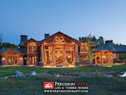 Log Cabin Modular Homes Handcrafted Log Home Exterior