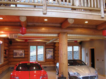 Awesome log cabin with garage log cabin with garage log for Log cabin garage apartment kits