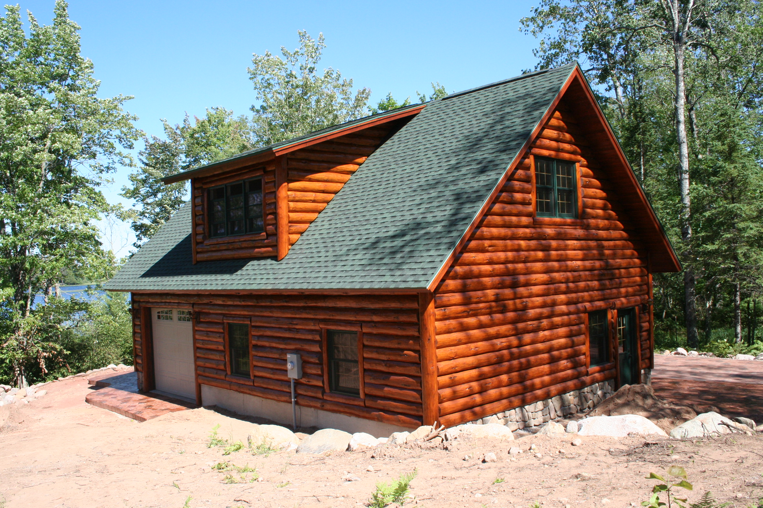 Log garages with loft quotes log cabin garages log for Log cabin floor plans with garage
