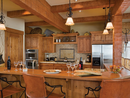Log Home Kitchen Design Ideas Log Home Kitchens with Islands