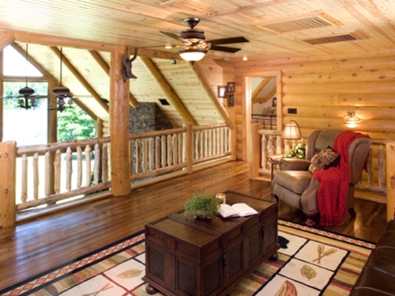 Log Home Plans With Loft A photo tour of this home Open Floor Plans Log Home with Plans