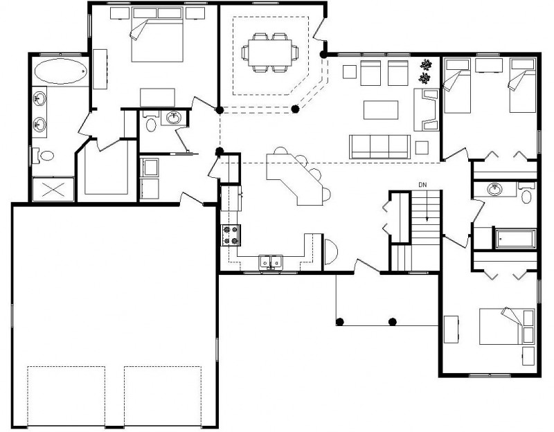 Log Homes with Open Floor Plans Log Homes with Trusses