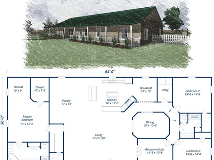 Metal Home Kit Floor Plans Complete Metal Home Kits