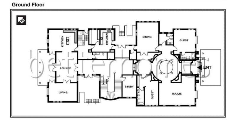 Million dollar mansion floor plans multi million dollar for 12000 sq ft house plans