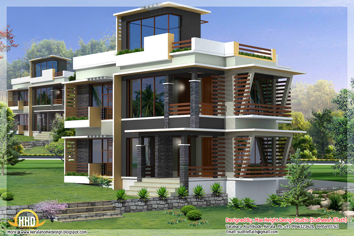 Front Elevation Of House Photo : Modern house elevation designs front photo