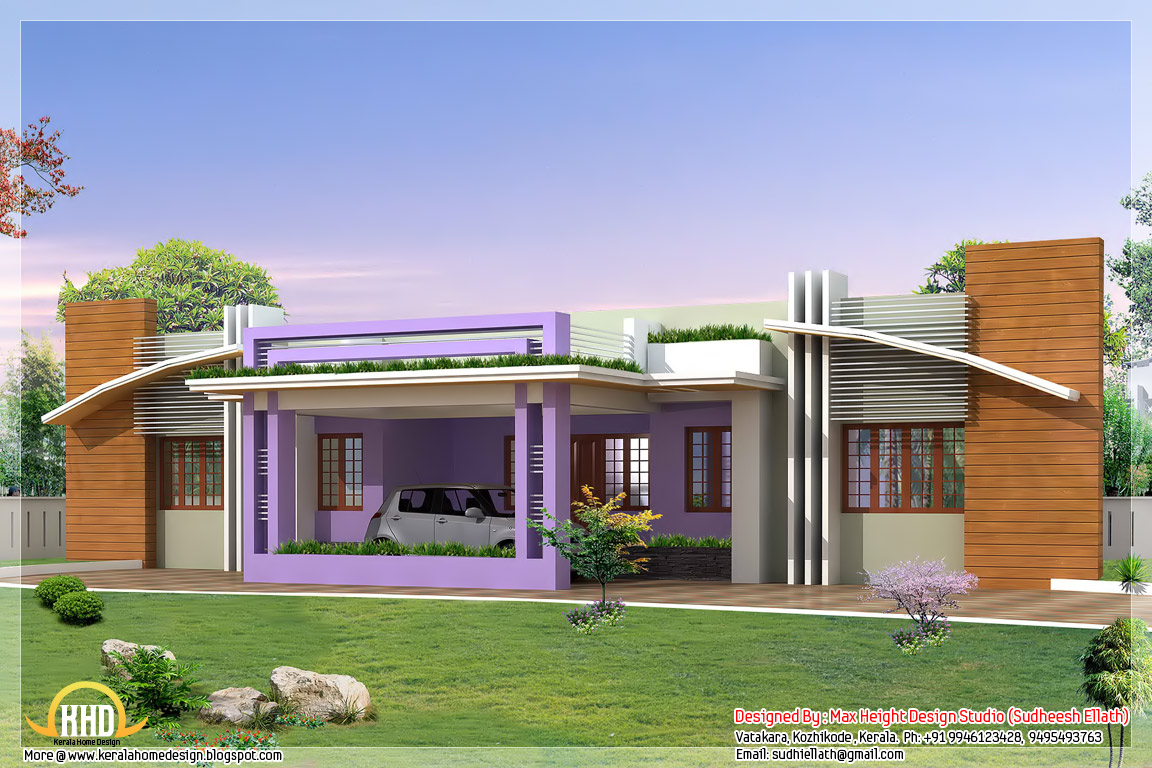 New home designs indian style home design floor plans of for New home designs india