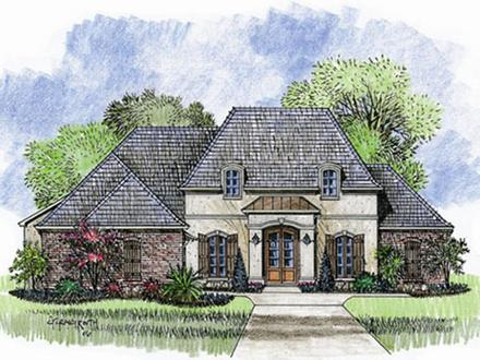One Story French Country Homes One Story House Plans French Country