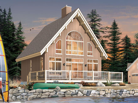 Screened Porch with House Plans Small Lake Small Lake Cottage House Plans