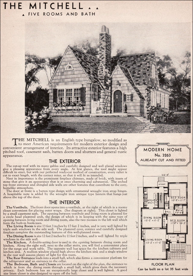 Sears Catalog Houses Early 1900 Sears Cottage House Plans