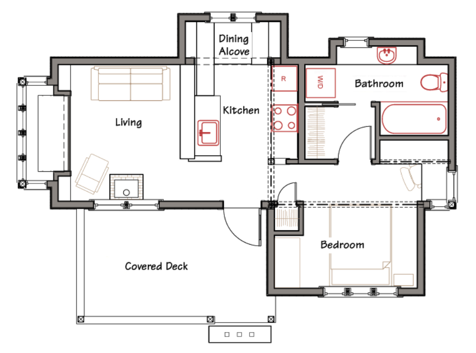 Simple modern house plan designs simple small house floor for Simple small house plans free