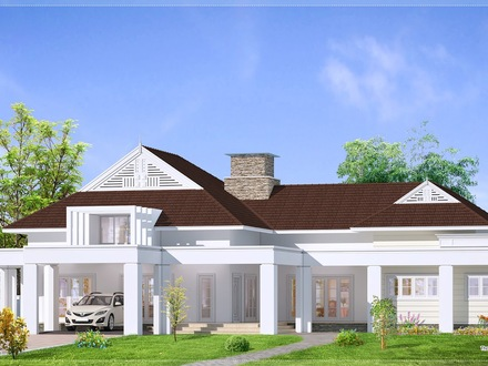 Single Story Bungalow House Plans Single Story Bungalow with Porch