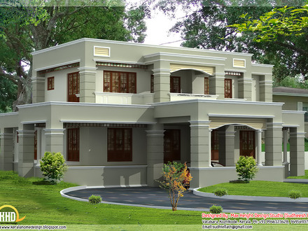 Slanted Roof House Plans Flat Roof House Plans Designs