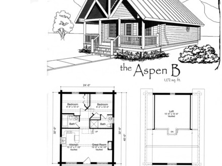 Small Cabin Blueprints Small Cabin House Floor Plans