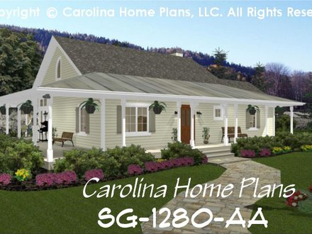 Small Country Cottage House Plan SG 1280 AA Sq Ft Affordable Small Small Cottage Kitchen Home