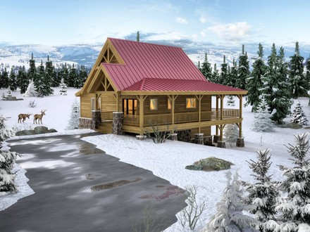 Small Log Cabins and Cottages Small Timber Frame Cabin Plans