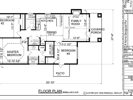 Small One Story House Simple One Story House Floor Plans