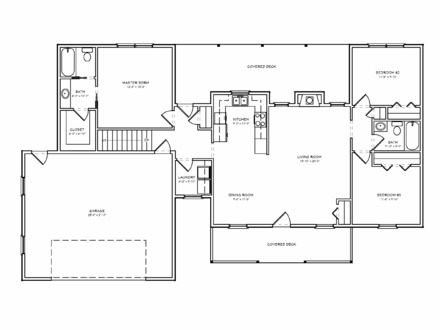 Small Ranch House Floor Plans Basic Ranch Houses with Porches