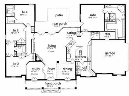 Arch Rafter House Plans furthermore Narrow House Plans furthermore Small House Plans additionally Anatomy Of An Icf Plan Conversion furthermore Plan details. on 4 bedroom floor plans 1 story