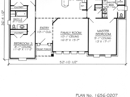 1700 sq ft house plans 2 story 1700 sq ft house floor for Ranch house plans 1700 square feet