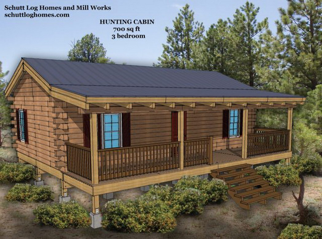 2 Bedroom Log Cabin Homes Kits Loft Two Story For