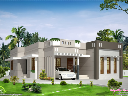 2 Bedroom Single Storey House Design One Story Bungalow Floor Plans