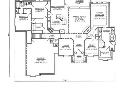 2 Story 3 Bedroom House Plans Master Bedroom Two-Story Deck