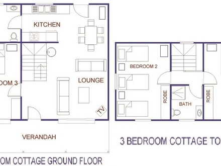 3 Bedroom Cottage House Plans Oaks 3-Bedroom Cottage