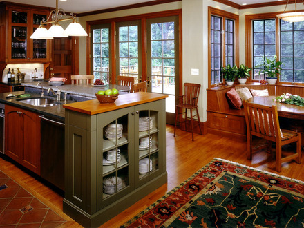 Arts and Crafts Style Wallpaper Arts and Crafts Style Kitchen