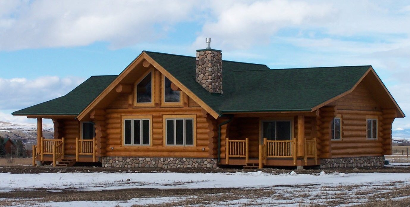 Clayton homes modular log cabin log cabin double wide for Modular homes that look like farm houses