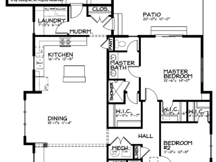 Contemporary Single Story Single Story Bungalow House Plans