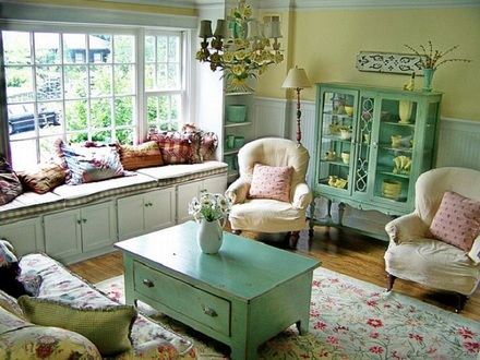 Cottage Chic Living Rooms Country Cottage Living Room Decorating Ideas