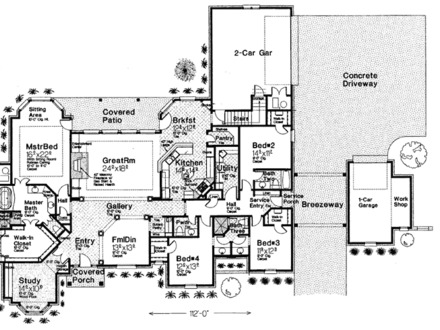 Craftsman One Story House Plans Single Story Country House Plans