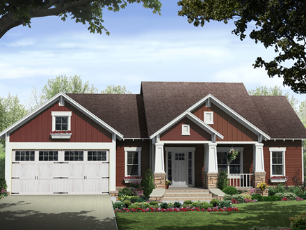 Craftsman Style House Plans for Ranch Homes Craftsman House Plans Small Cottage