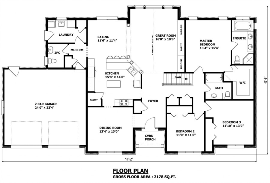 Custom Homes Floor Plans House Design 7-8 Bedroom Home Floor Plans
