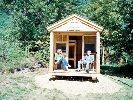 Deer hunting blinds building a small hunting camp hunting for Hunting cabin house plans