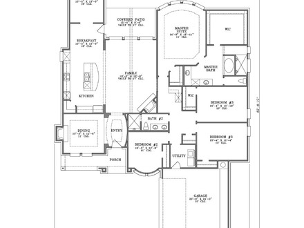 Double Bedroom 4 Bedroom Single Story House Plans