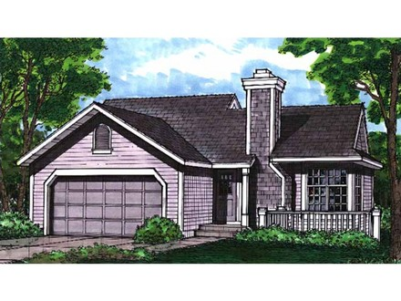 Eplans cottage house plan two bedroom cottage 988 square for Cottage house plans with basement