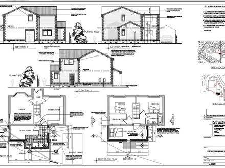Free dwg house plans autocad house plans free download for Garage extension plans