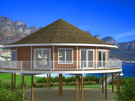 House Plans for Homes On Pilings 3D House Plans