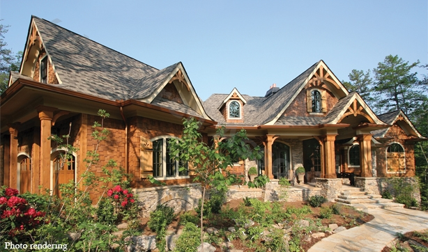 Lodge style home plans rustic mountain style house plans for Craftsman style log homes